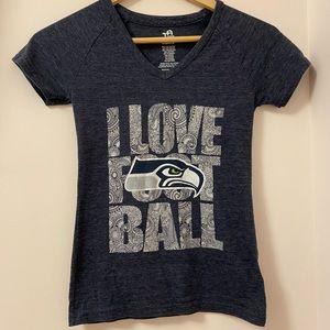 Seahawks girls short sleeve T-shirt. Size: S blue